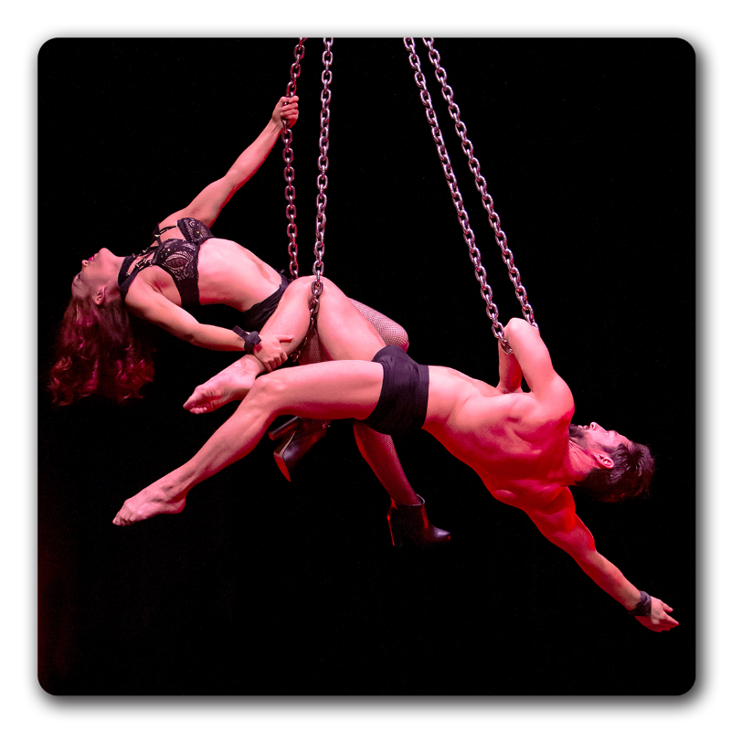 Emma and Stephen - Aerial Chains